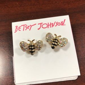 Betsey Johnson bumble bee earrings